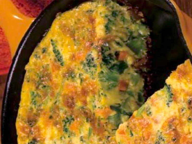 Broccoli-Cheddar Frittata