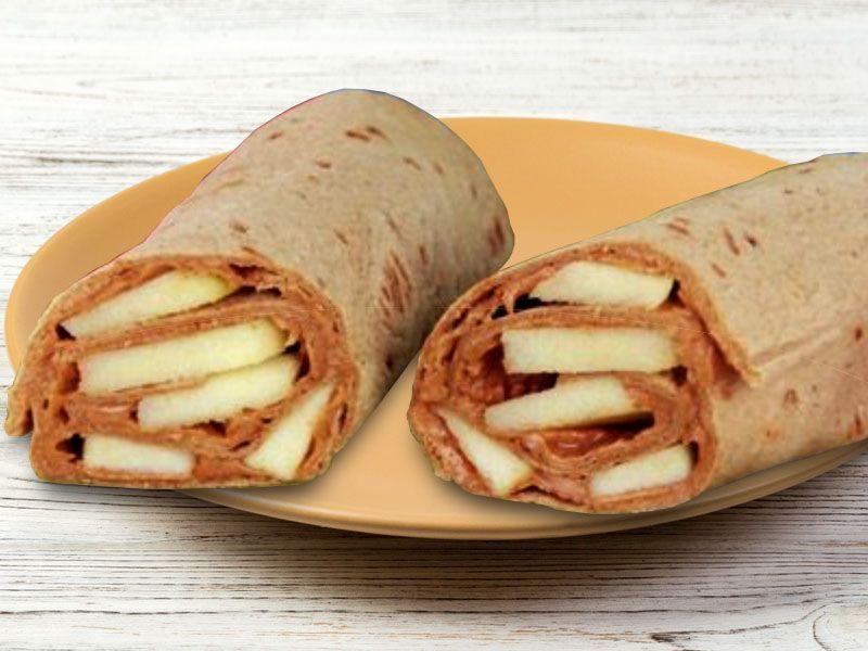 Peanut Butter Apple Wraps