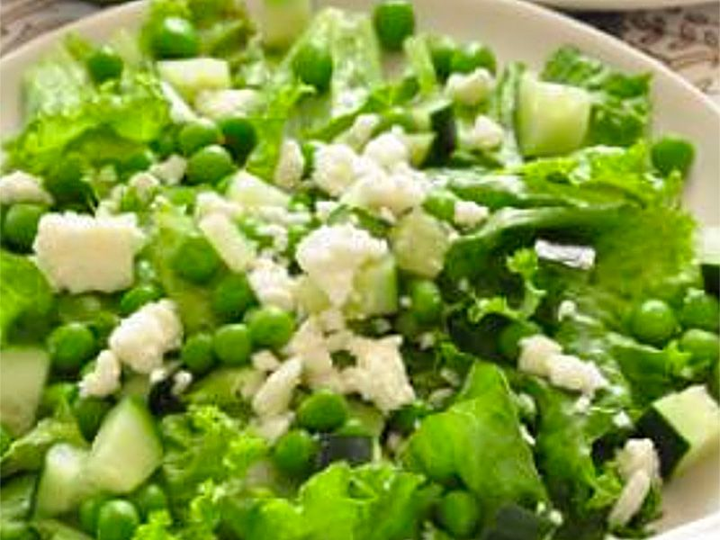 Green Salad with Peas