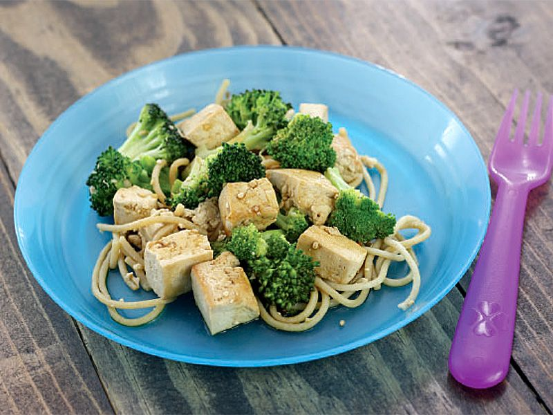 Sautéed Tofu and Broccoli